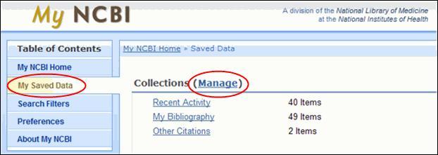 MyNCBI cambios My Bibliography 2010
