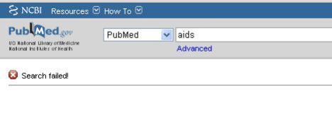 Fallo PubMed