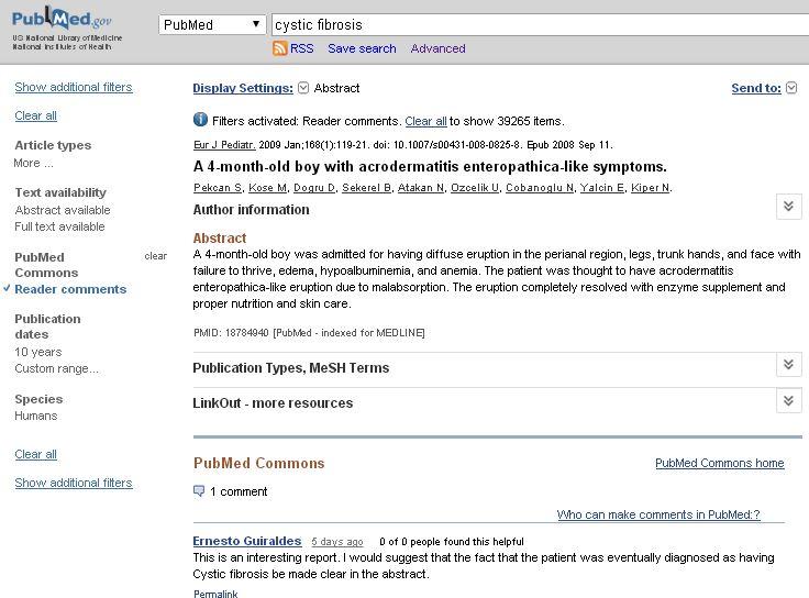 FireShot Screen Capture #742 - 'A 4-month-old boy with acrodermatitis enteropa___ [Eur J Pediatr_ 2009] - PubMed - NCBI' - www_ncbi_nlm_nih_gov_pubmed__term=cystic+fibrosi