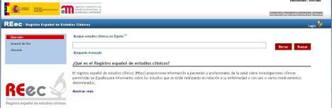 Registro Español de ensayos clinicos