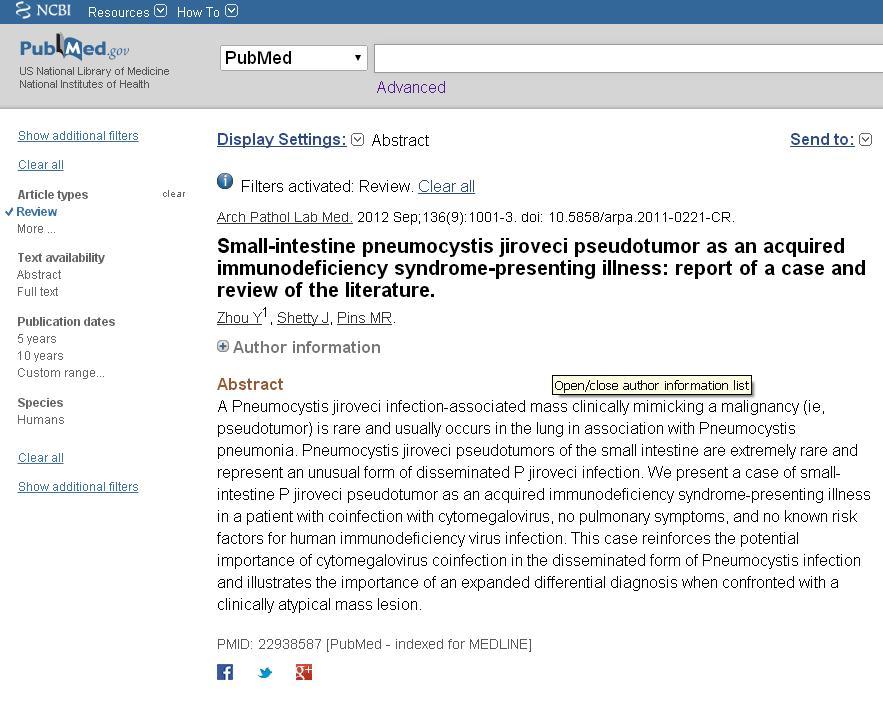 PubMed redes sociales